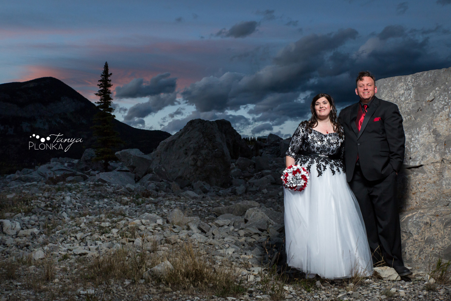 Crowsnest Pass Night Time Wedding