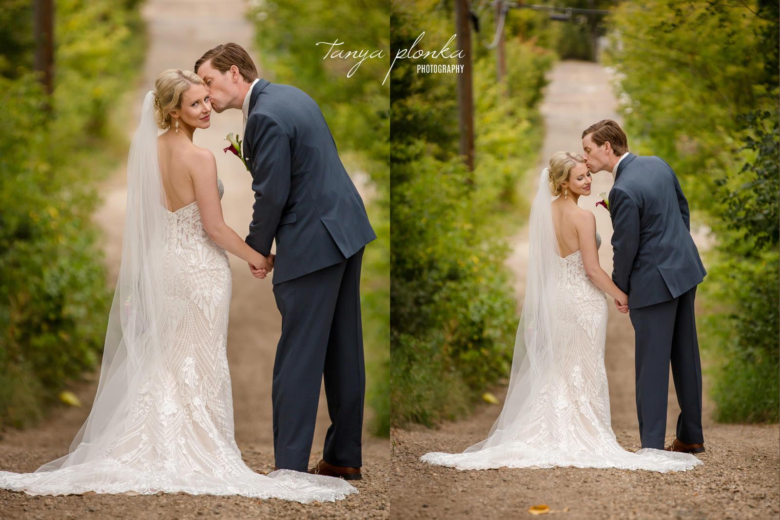 Edmonton bride and groom in alley