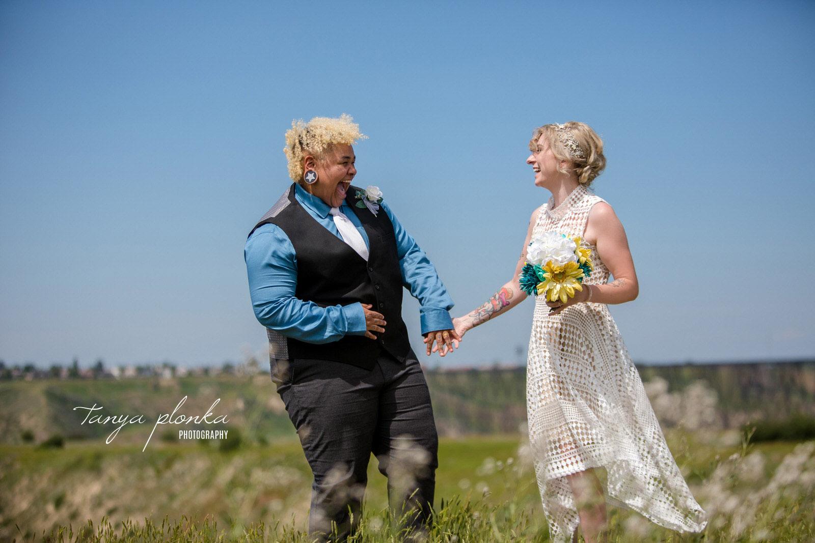 Lethbridge same sex wedding brides