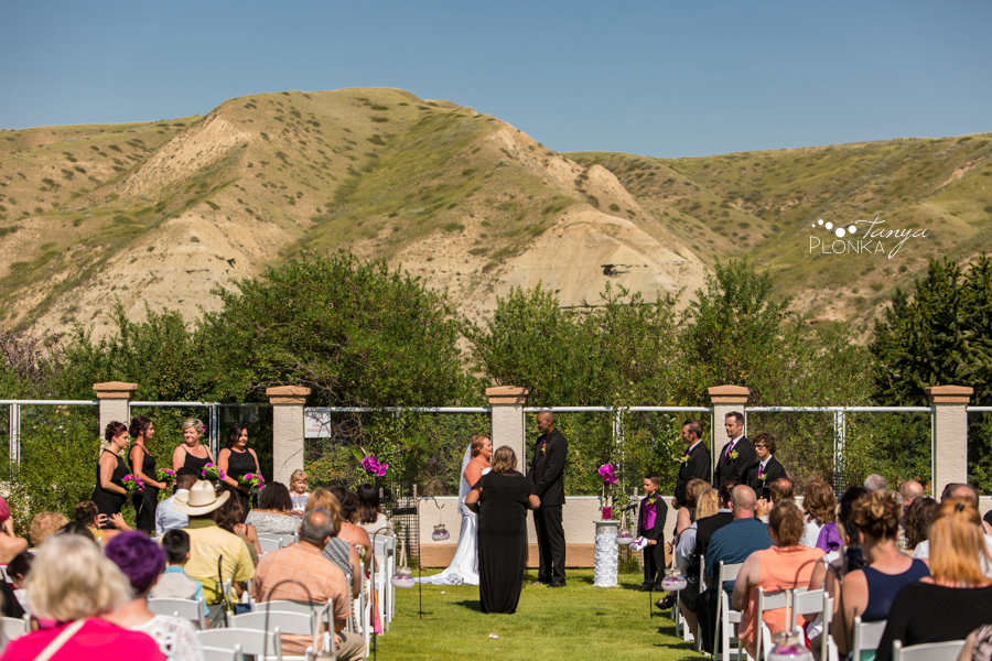 wedding ceremony at the Paradise Canyon golf course in Lethbridge