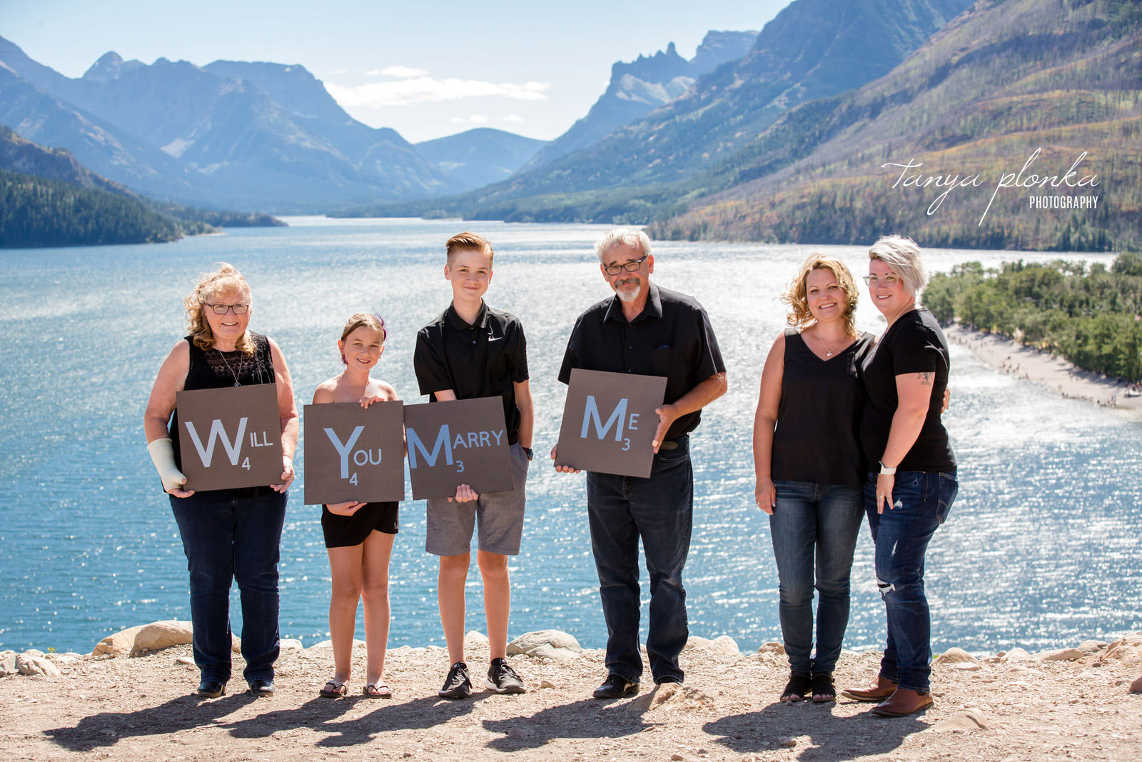 Waterton family assisted marriage proposal